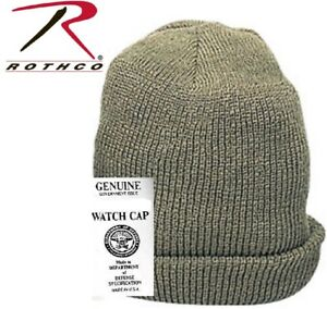 3ebcc35264176d OD Green Military Issue Winter Knit Hat Wintuck Acrylic Watch Cap ...