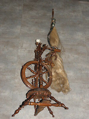 antique Vintage Wooden Traveller Spinning Wheel wood country primitive