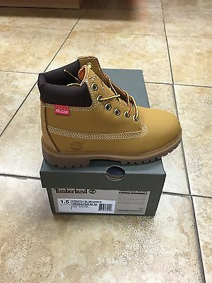 """9593R WHEAT NEW YOUTH TIMBERLAND 6/"""" CLASSIC SCUFF-PROOF HELCOR GS BOOTS"""