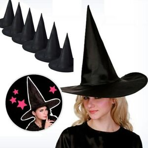 6pcs Adult Women Wicked Sorceress Witch Hat for Halloween Costume Accessory  US e493cc3f9192