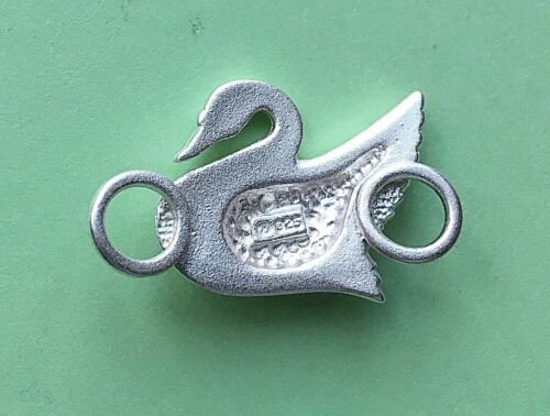 SWAN Clasp Sterling Silver 925 New used with convertible bracelet