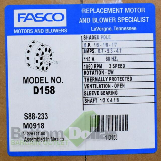 Fasco D158 Direct Drive Blower Motor