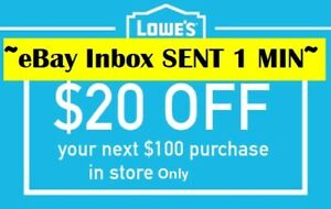 TWO-2x-Lowes-20-OFF-100Coupons-Instore-Only-FAST-SENT