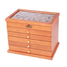 Best Choice Products Armoire Jewelry Cabinet Box Storage Chest Wood