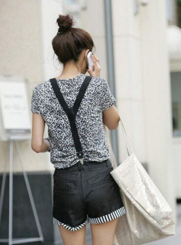 Unisex Elastic Y-Back Suspenders Braces Mens Womens Adjustable Clip on Hard
