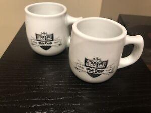 "Black Logo 4"" Vintage White Castle Ashtray Bottom Mug Restaurant Ware 12 Oz"