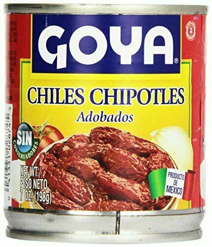 Goya Chipotle Peppers Adobados Mexico in Adobo Sauce 7 oz. Can Best By Sept 2022