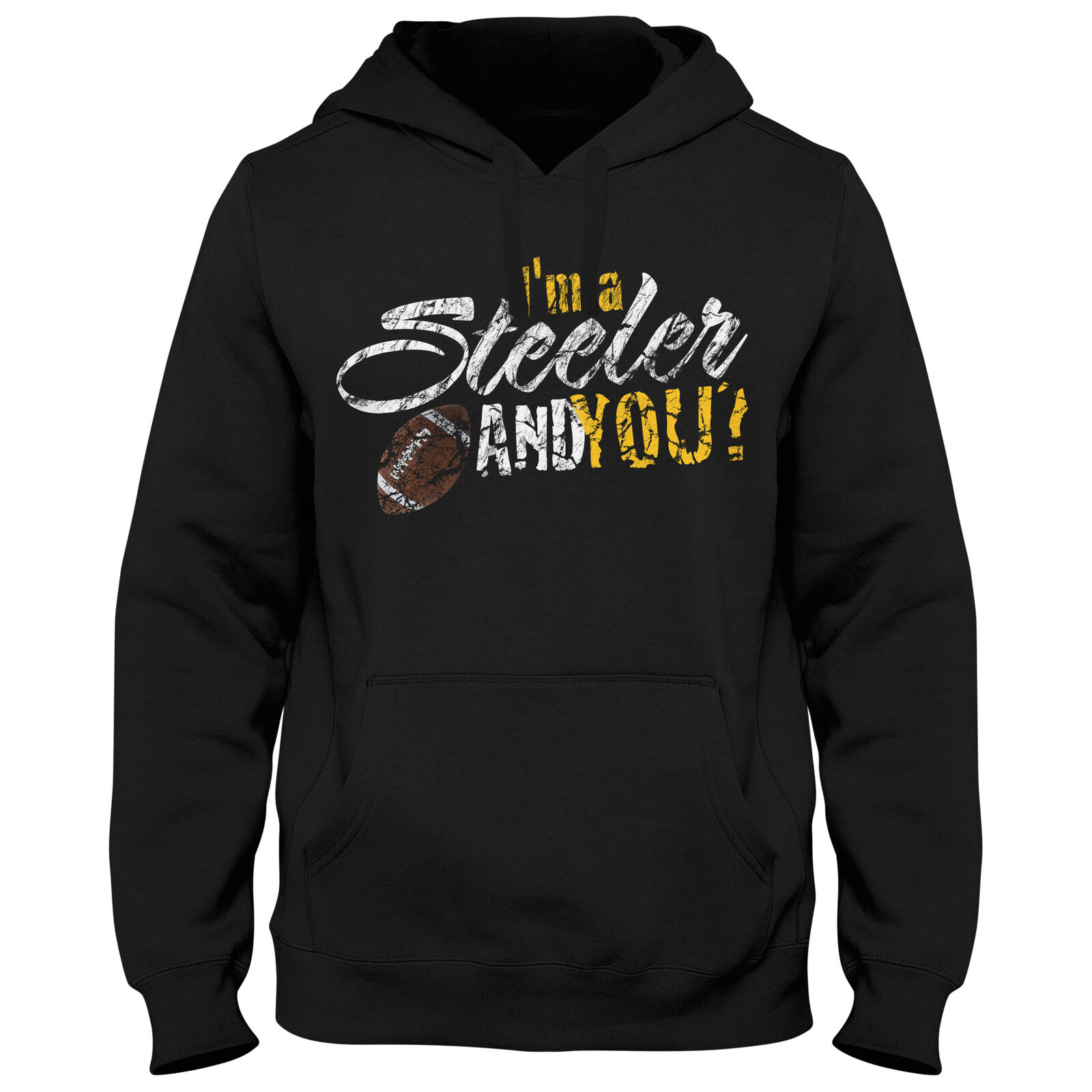 Hoody Hoodie Kapuzenpulli Football USA Steeler Bowl American Super Shirt DTG