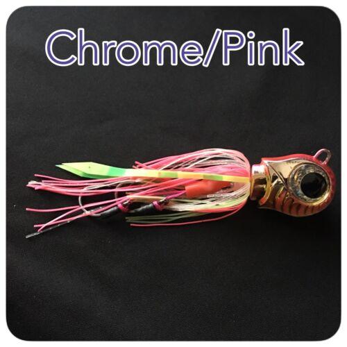 BOTTOM  JIGS Chrome//Pink CAIVO 3D SHELL MOON JIGS Col