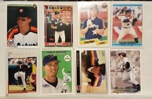 Pre-owned-Craig-Biggio-Baseball-Card-Lot-of-8-1990-1992-2000-1999