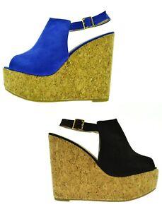 Sandali-neri-donna-aperte-scarpe-blu-camoscio-estive-zeppa-alta-plateau-sughero