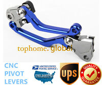 For Yamaha Yz250x 2016 2017 Clutch Brake Pivot Levers Cnc Blue Pair Us
