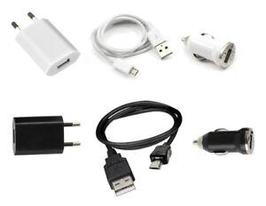 Chargeur 3 en 1 (Secteur + Voiture + Câble USB) ~ Huawei Ascend P1 / U8860 Honor