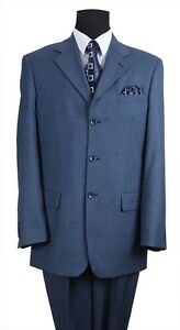 Blue Solid Color Men/'s Classic Wool Feel Suits Brown Burgundy Olive