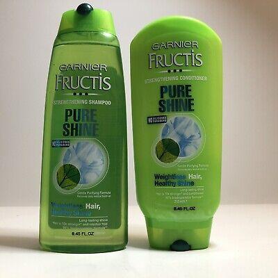 Garnier Fructis Pure Shine Strengthening Shampoo And Conditioner 8 45 Fl Oz Ea Ebay