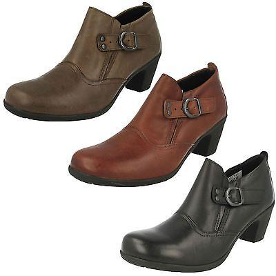 Ladeis Cuero fácil B Tacón amplia Accesorio Zapatos Estilo Camafeo