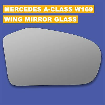 Left hand passenger side for Mercedes A-Class W169 2008-2012 wing mirror glass