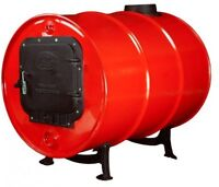 Cast Iron Barrel Stove Kit, Heat For Cabins Workshops Office Shed Commercial on sale