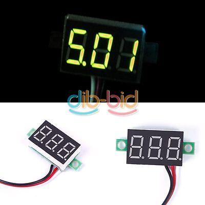 Mini DC 0-32V LED Panel Voltage Meter 3-Digital Voltmeter Motorcycle ERUS
