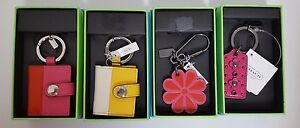 Coach-Leather-Pink-Flower-Yellow-amp-Pink-Photo-Frame-Hang-Tag-Key-Chain-Fob-NB