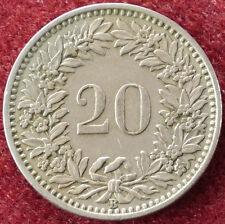 Switzerland 20 Rappen 1953 (D2004)