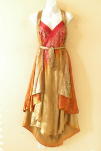 L47-Vintage-Silk-Magic-34-034-Women-Wrap-Skirt-Halter-Tube-Maxi-Dress-Bonus-DVD