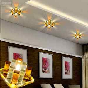 Image Is Loading Yellow Ceiling Spotlight Modern LED Crystal Aisle Porch