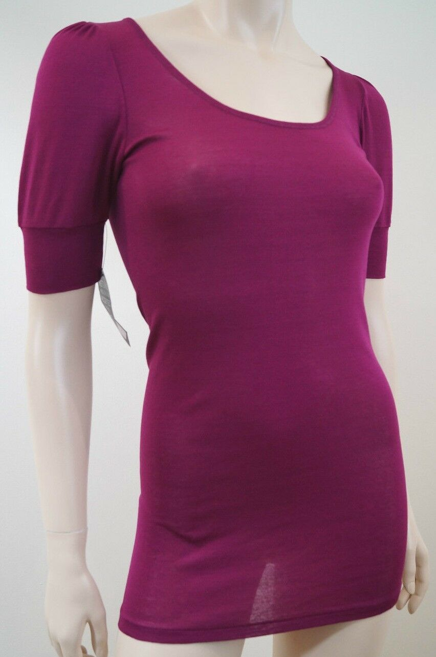 VANESSA BRUNO Made In France Cerise Pink Long Length Knitwear Top FR2 UK10 BNWT