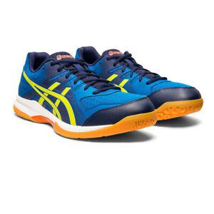 Asics Homme Gel-Rocket 9 Intérieur Cour Chaussures-Bleu Marine Sports Squash Badminton
