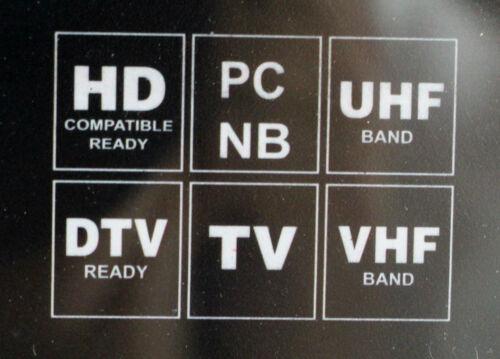 Digital Indoor TV Antenna HDTV Ready HD VHF UHF Flat Design High Gain TS-1566DTV