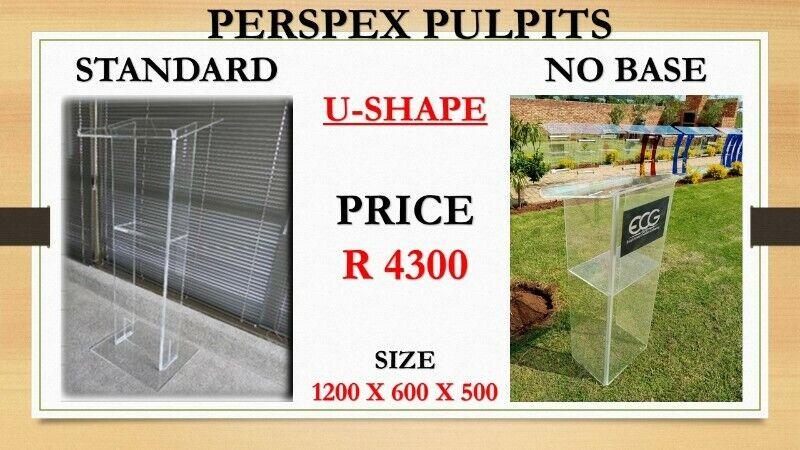 U Shape Standard And No Base Pulpit