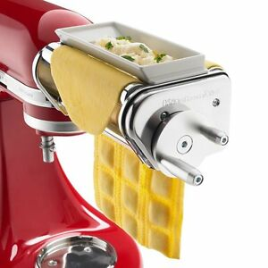 NEW-KitchenAid-Ravioli-Maker-Mixer-Attachment-Pasta-Wide-Roller-Cleaning-Brush