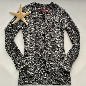 Details about Kaisely Anthropologie Long Sleeve Cardigan Sweater Womens Medium Black Wool