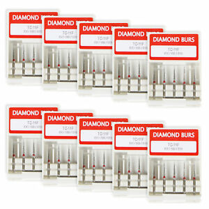 50pc-Dental-Diamond-Burs-Burr-FG-1-6mm-TC-11F-for-High-Speed-Handpiece