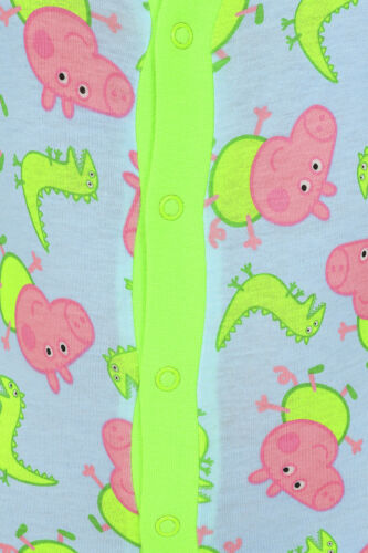 Boys George Pig and Dinosaur Sleepsuit Ages 1-5 Years Kids All in One w20