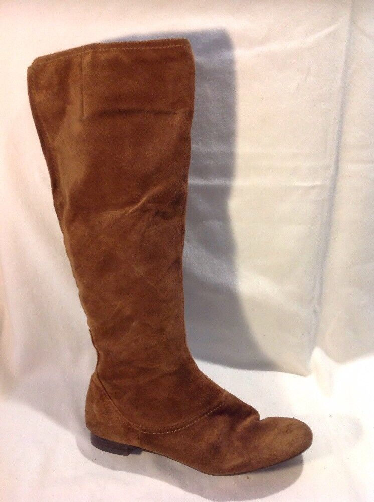 Nine West Brown Knee High Suede Boots Size 6W (U.K. Size 4)