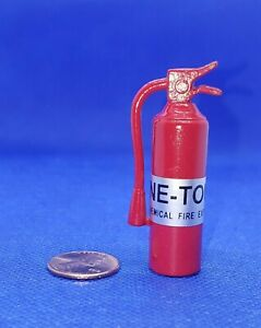 Dollhouse-Miniature-Red-Fire-Extinguisher-1-12-Scale