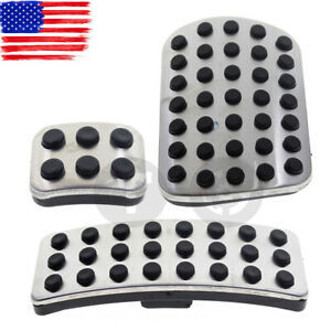 labwork Stainless Steel Sport Brake Pedal Pads Cover Replacement for Mercedes Benz GL R M Class AMG