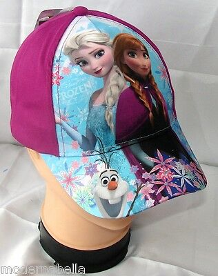 Ambizioso Frozen Sisters Cappello Con Visiera Estivo Bambina Baseball Tg 52 Viola