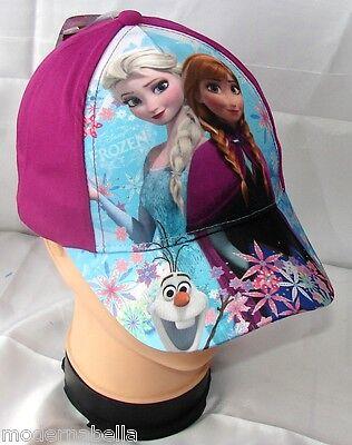 Adattabile Frozen Sisters Cappello Con Visiera Estivo Bambina Baseball Tg 52 Viola