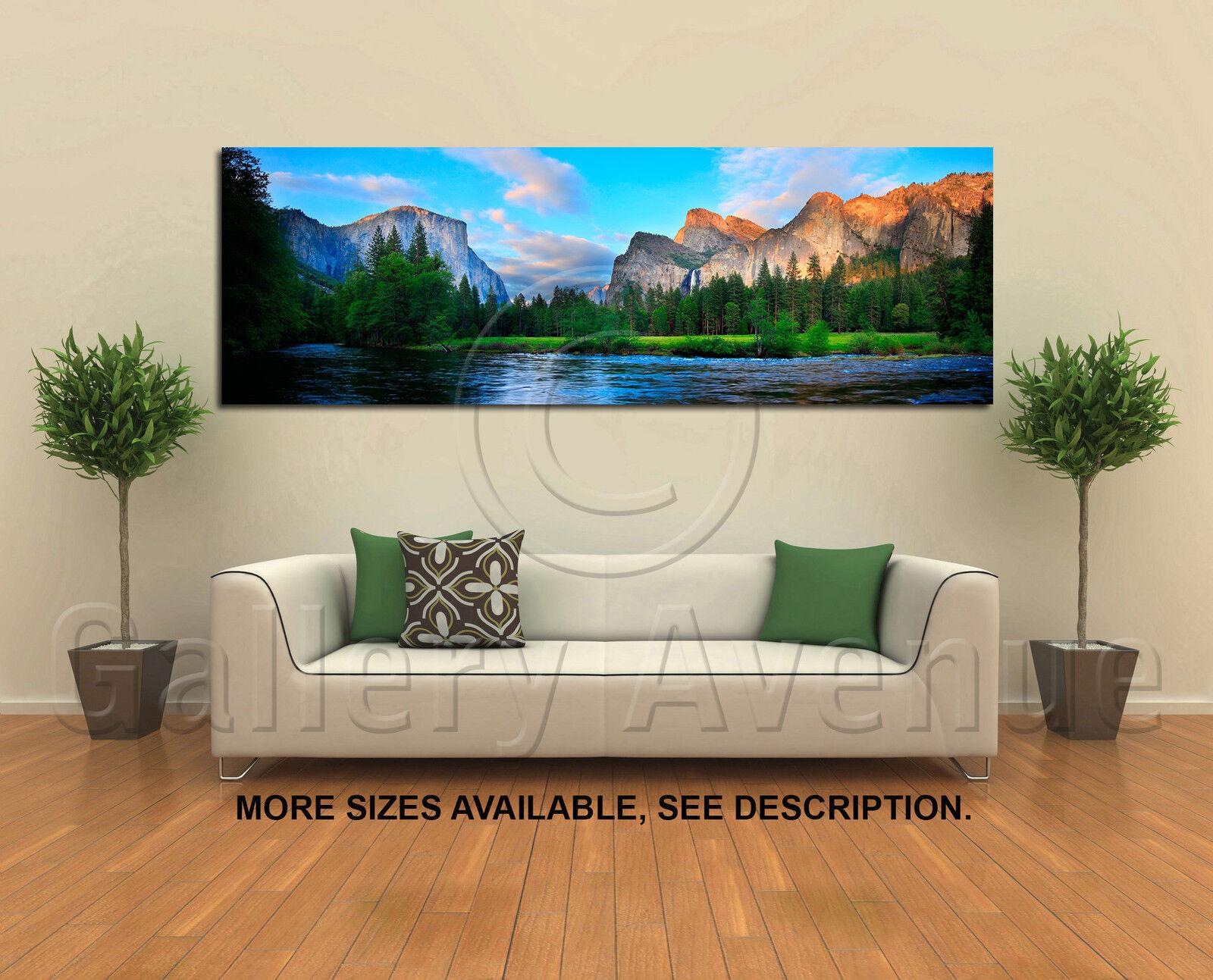 Wall Art Canvas Picture Print - Yosemite Sunset Panorama 3.1