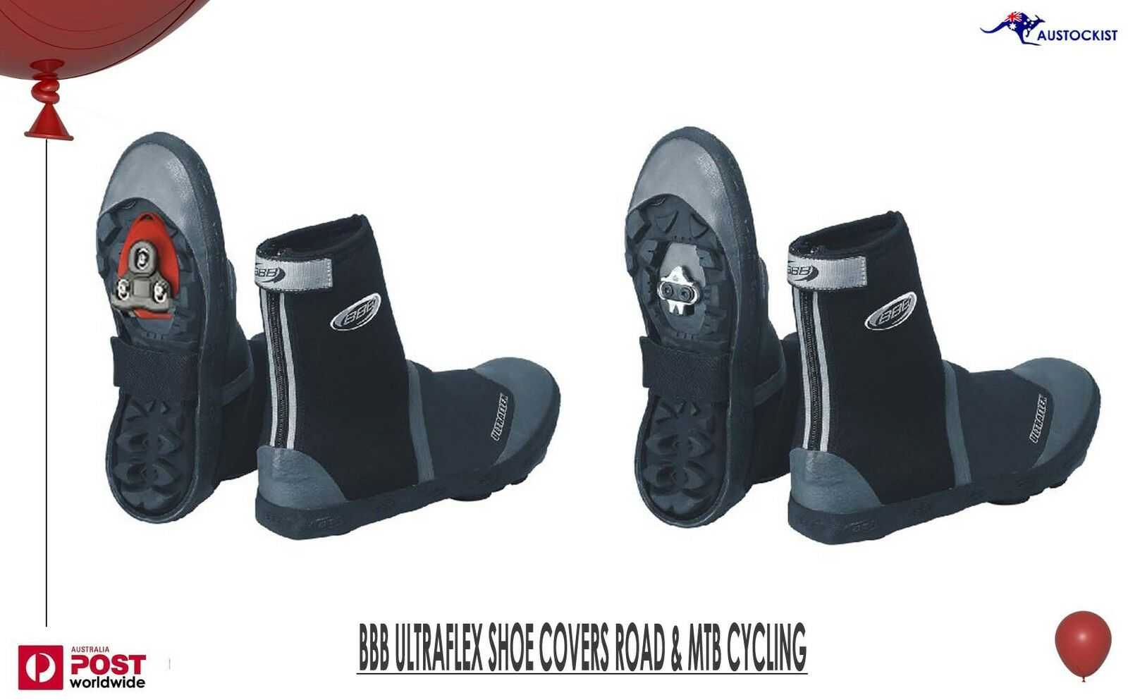 BBB Ultraflex shoes Covers Size 41 42 Road Cycling MTB Fits over any cleat BNWT