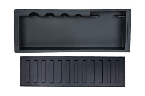 2009-2014 Ford F-150 Center Console Storage Cassette Box w// Rubber Mat OEM NEW