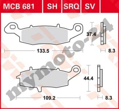 2002 TRW Lucas MCB681 Bremsbelag Suzuki GS500 E BK1 BK3 Bj