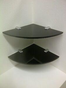 Confezione-da-2-x-acrilico-ad-Angolo-Mensola-Con-Cromate-Fissaggi-150MM-o-6-034-ampi-PERSPEX