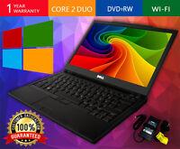 DELL LAPTOP LATITUDE WINDOWS 10 CORE 2 DUO 2.4GHZ 4GB 250GB DVDRW WIFI COMPUTER
