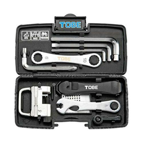 Tobe Professional Compact 24-in-1 Multi Bicycle Tool Set B116070 Black Case