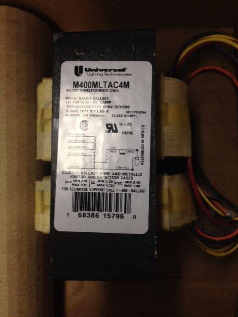 2 PCS 400W Watt Pulse Start Metal Halide Ballast 400 4-Tap ANSI M155 28UF//300V