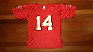 8e6122d63 Vtg mens Tampa Bay Buccaneers Brad Johnson BUCS jersey NFL football ...