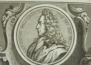 Antonio-Vallisneri-Doctor-And-Un-Naturalist-Italian-Italy-1726-18th-Engraving